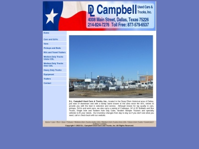 screenshot of D.L. Campbell Used Cars and Trucks's homepage