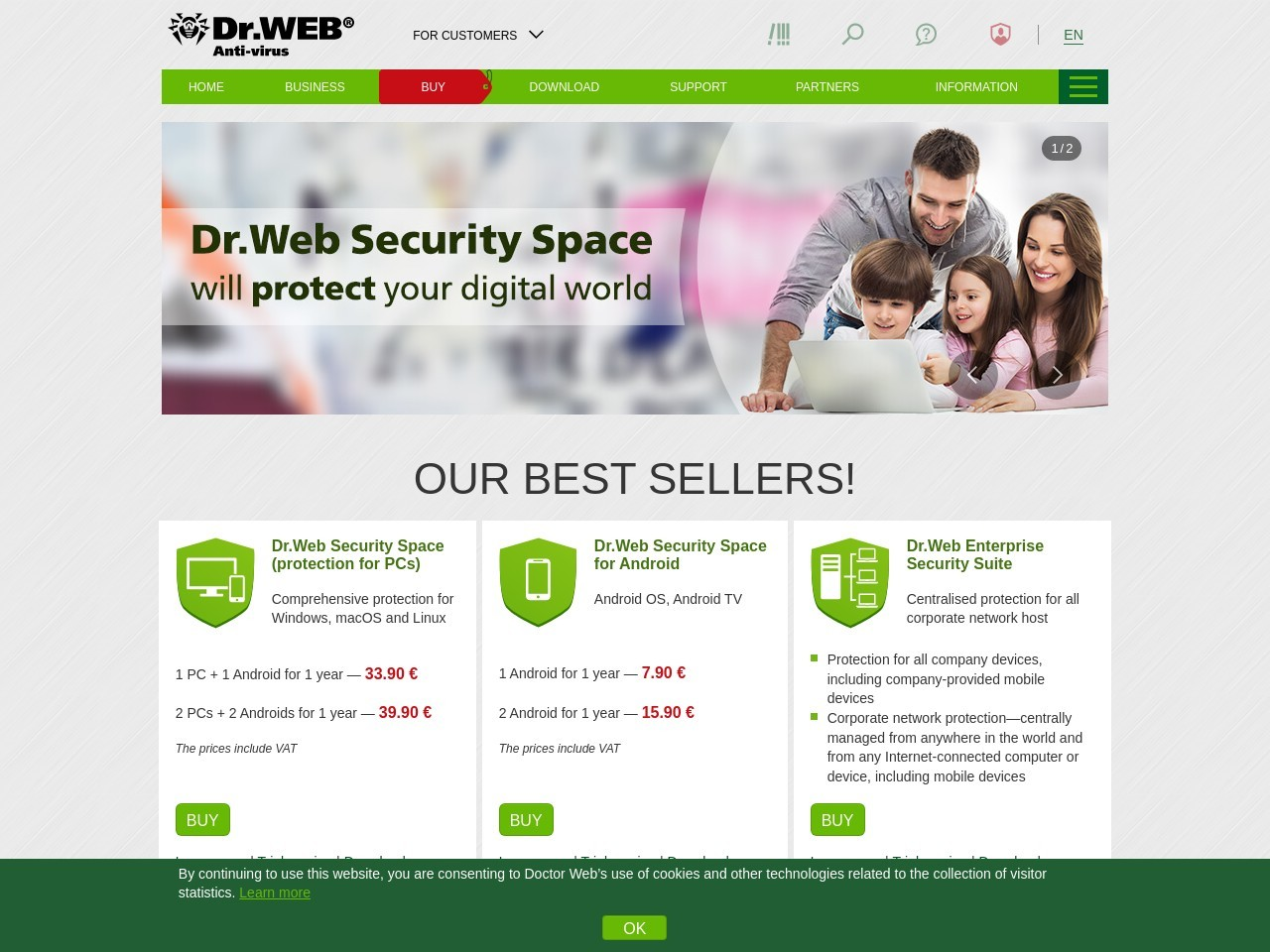 15 Percent Home products (Dr.Web Security Space), 6 months Voucher Code Exclusive