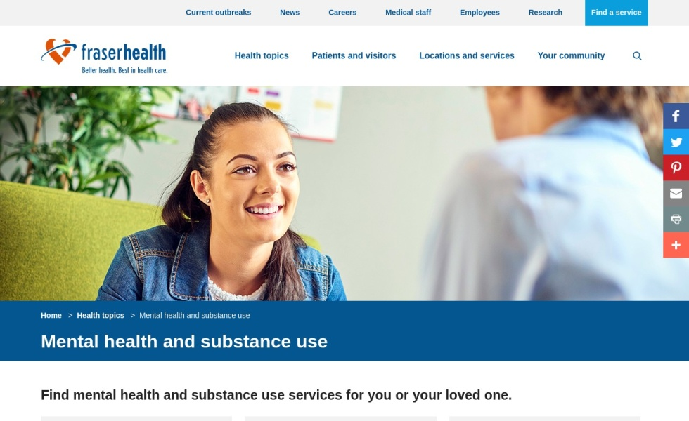Fraser Health: Mental Health Services