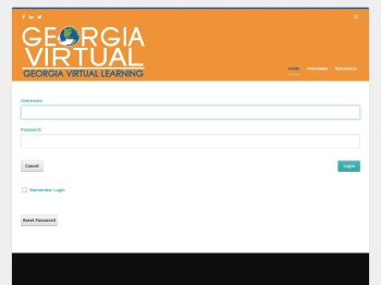 User Log In - Georgia Virtual Learning