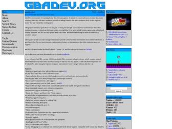 GBADev.orgサイトのスクリーンショット