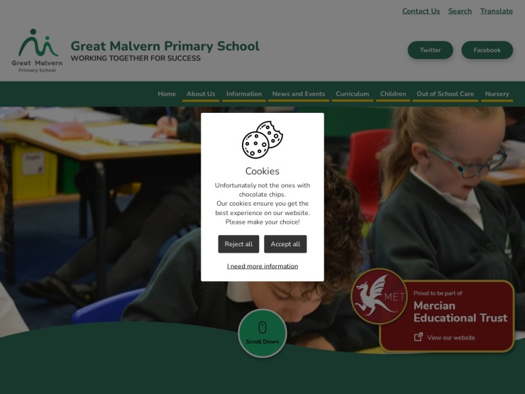 Great Malvern Primary School reviews and contact