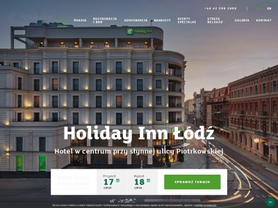 Holiday Inn Łódź Hotel, Polska