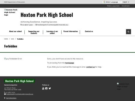 Hoxton Park High School Website