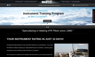 Apply for CFII job at Professional Instrument Courses today