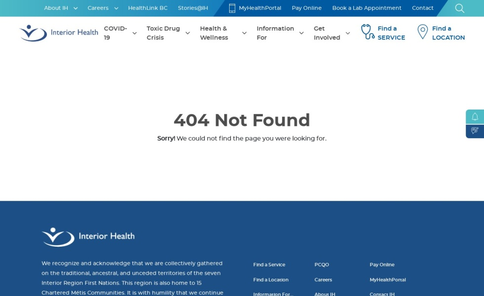 Interior Health: Mental Health/Substance Use