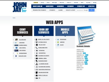 Web apps | John Jay College of Criminal Justice