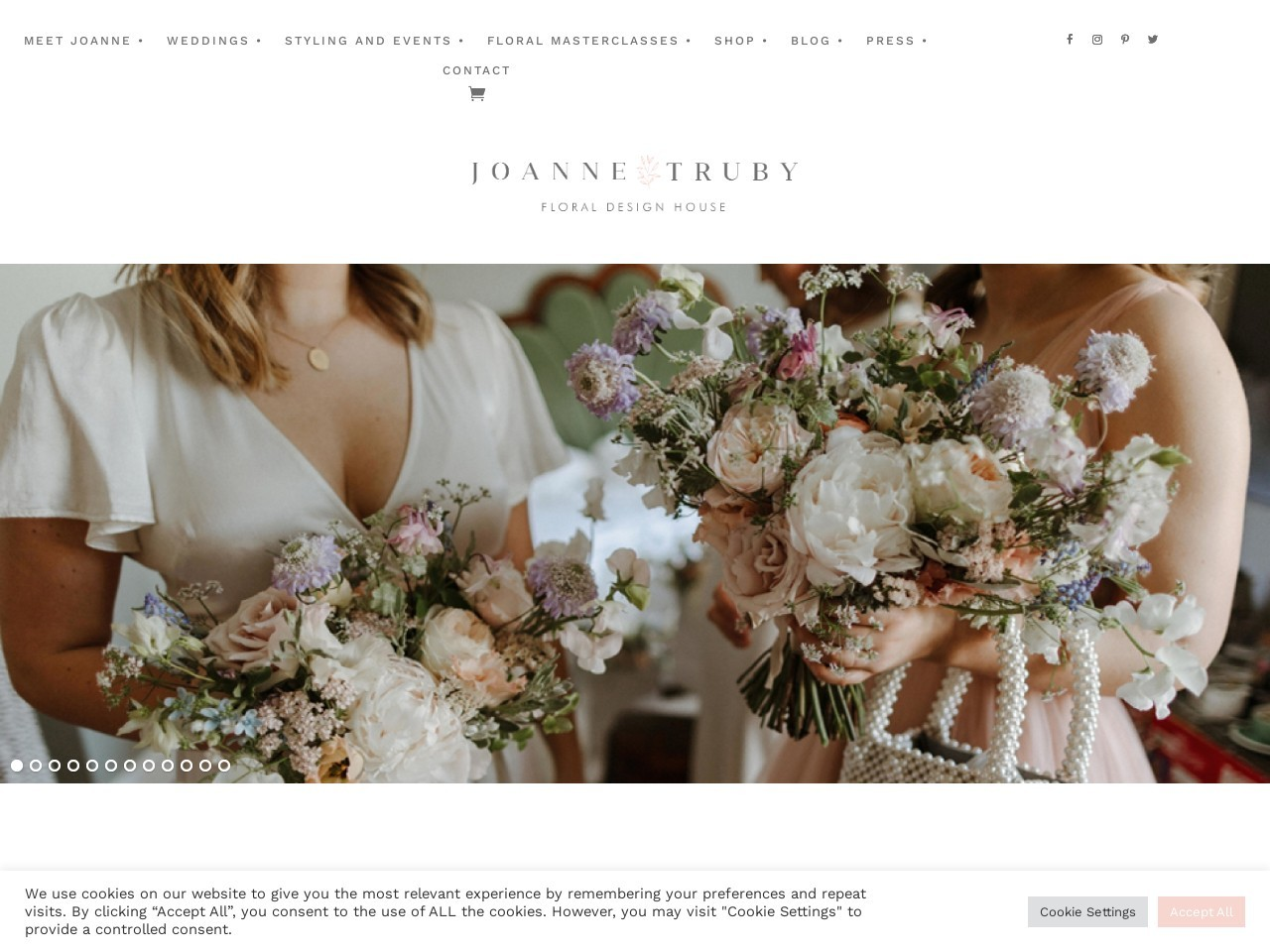 Love this whimsical website by Joanne Truby floral design, running on Bluchic's Chamomile WordPress theme