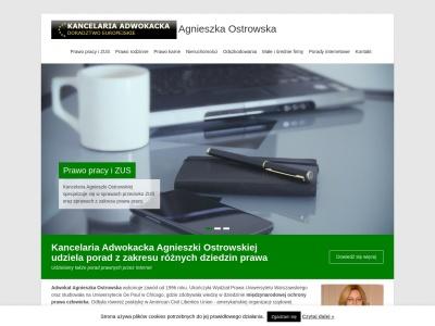 Adwokat - Kancelaria adwokacka Warszawa - AGNIESZKA OSTROWSKA