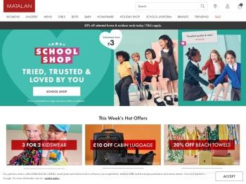 Matalan 50% Schools Back Sale