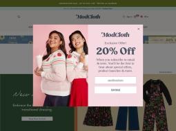 Modcloth screenshot