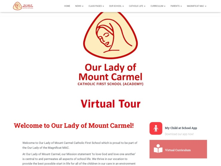 Our Lady of Mount Carmel Catholic First School reviews and contact