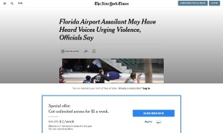 Florida Airport Assailant May Have Heard Voices Urging Violence Offici