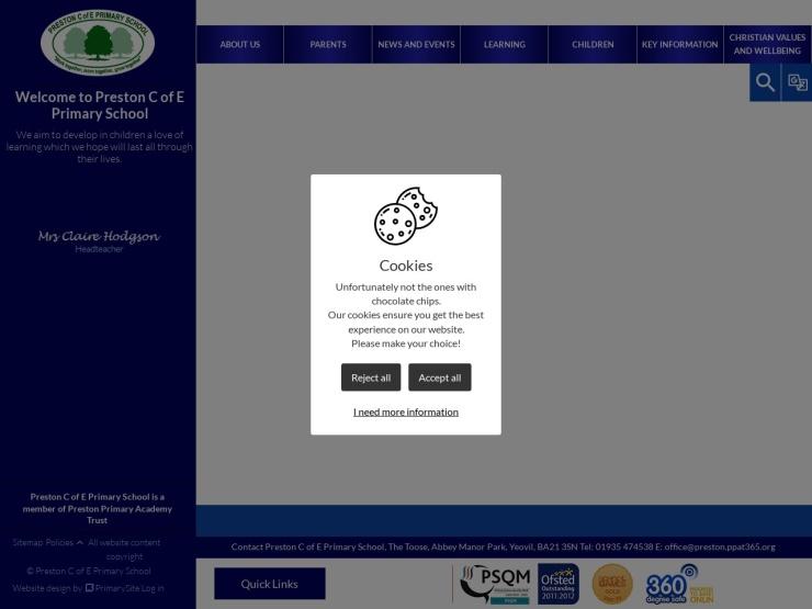 Preston CofE Primary School reviews and contact
