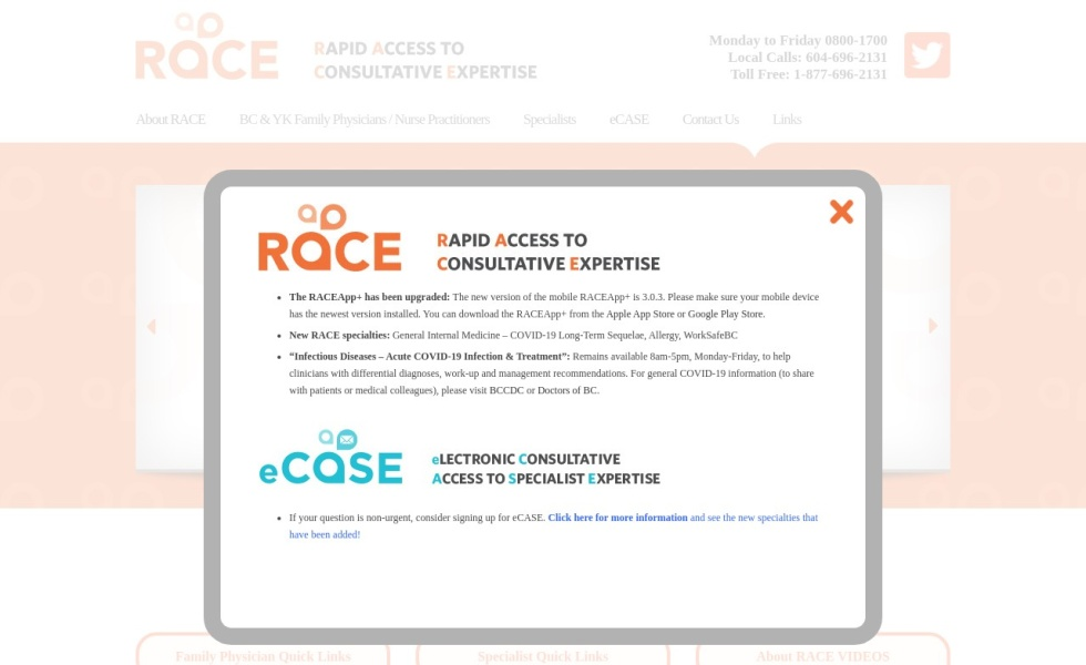 RACE: Rapid Access to Consultative Expertise