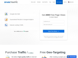 SparkTraffic screenshot