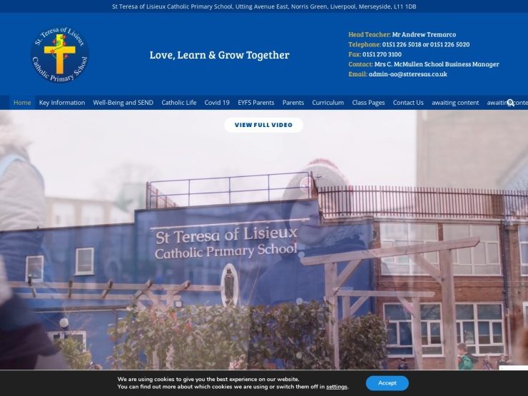 St Teresa of Lisieux Catholic Primary School reviews and contact