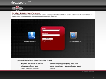 Briggs & Stratton Info - The Power Portal Helpful Links for ...