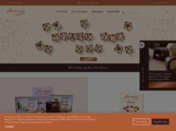 Thorntons 20% Off Everything