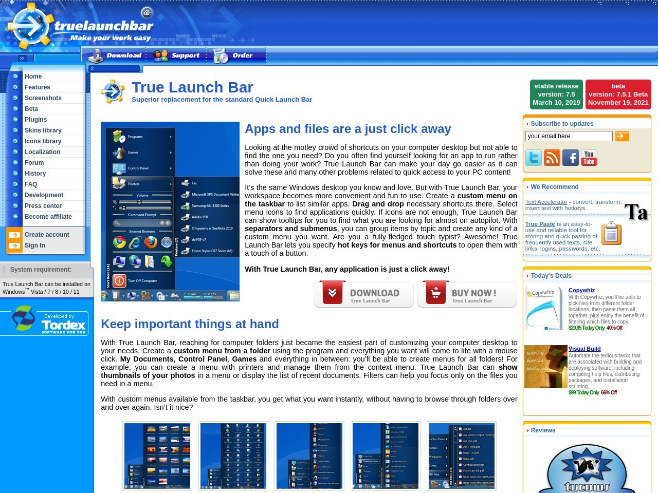 True Launch Bar