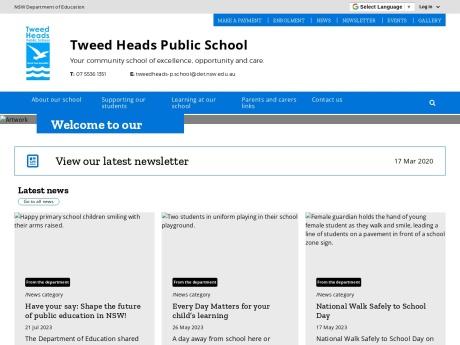 Tweed Heads Public School Website