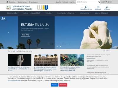 Web de Universidad de Alicante - Opiniones de alumnos de Universidad de Alicante-