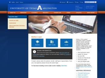 MyMav Login - The University of Texas at Arlington