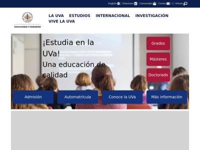 Web de Universidad de Valladolid - Opiniones de alumnos de Universidad de Valladolid-