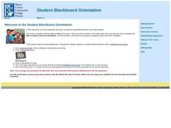 Blackboard Orientation - Wayne County Community College ...