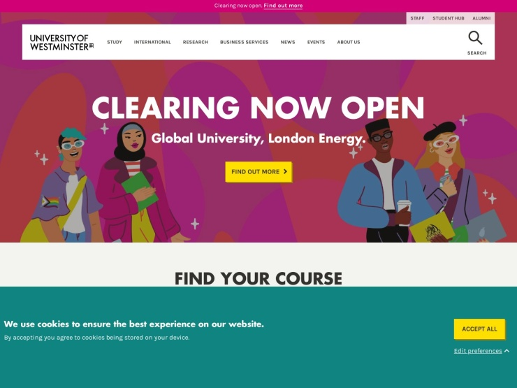 University of Westminster reviews and contact