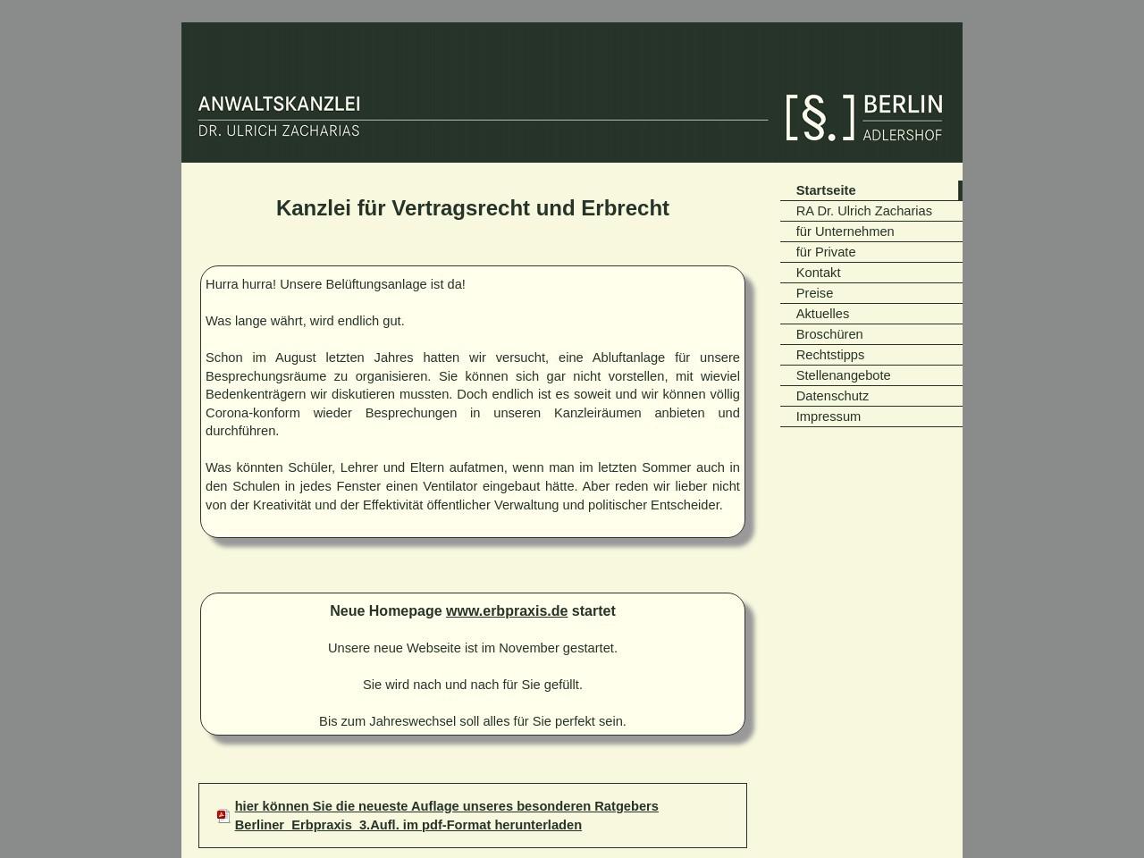 Anwaltskanzlei Dr. Ulrich Zacharias