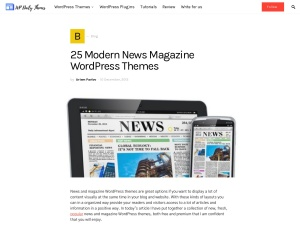 25 Modern News Magazine WordPress Themes