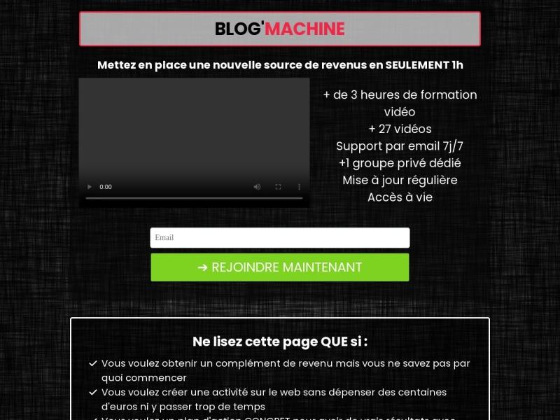 blog machine