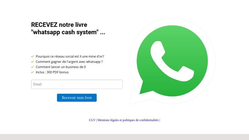 whatsapp cash system