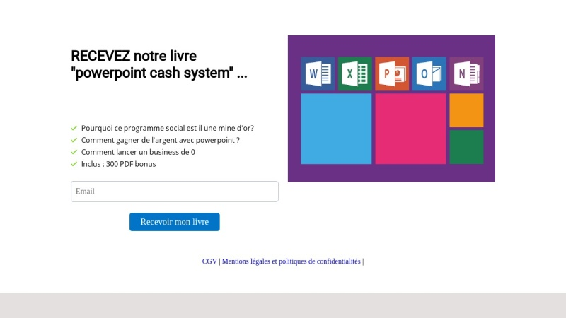 powerpoint cash system