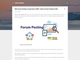 Why Forum Posting is Important In SEO?: what is Forum Posting In SEO