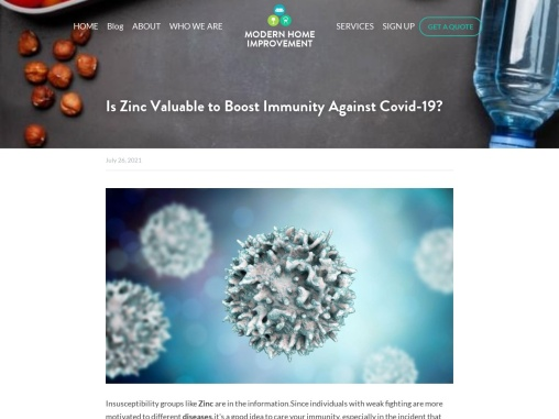 Is Zinc Valuable to Boost Immunity Against Covid-19?