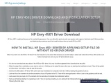 HP Envy 4501 Driver Download and installation setup