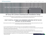 HP Envy 4512 Driver Download and installation setup