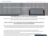 HP Officejet Pro 6975 Driver Download and Installation Setup