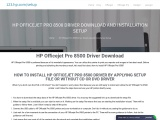HP Officejet Pro 8500 Driver Download and Installation Setup
