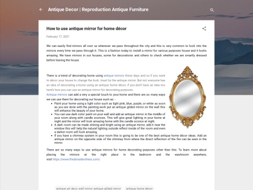 How to use antique mirror for home décor