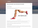 What are Shin splints? causes and treatment of shin splints