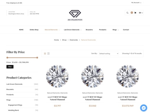 Buy Natural Diamonds Online | Natural Diamond at Best Price in USA