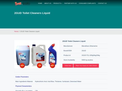 get the high quality toilet cleaner products   2gudindia