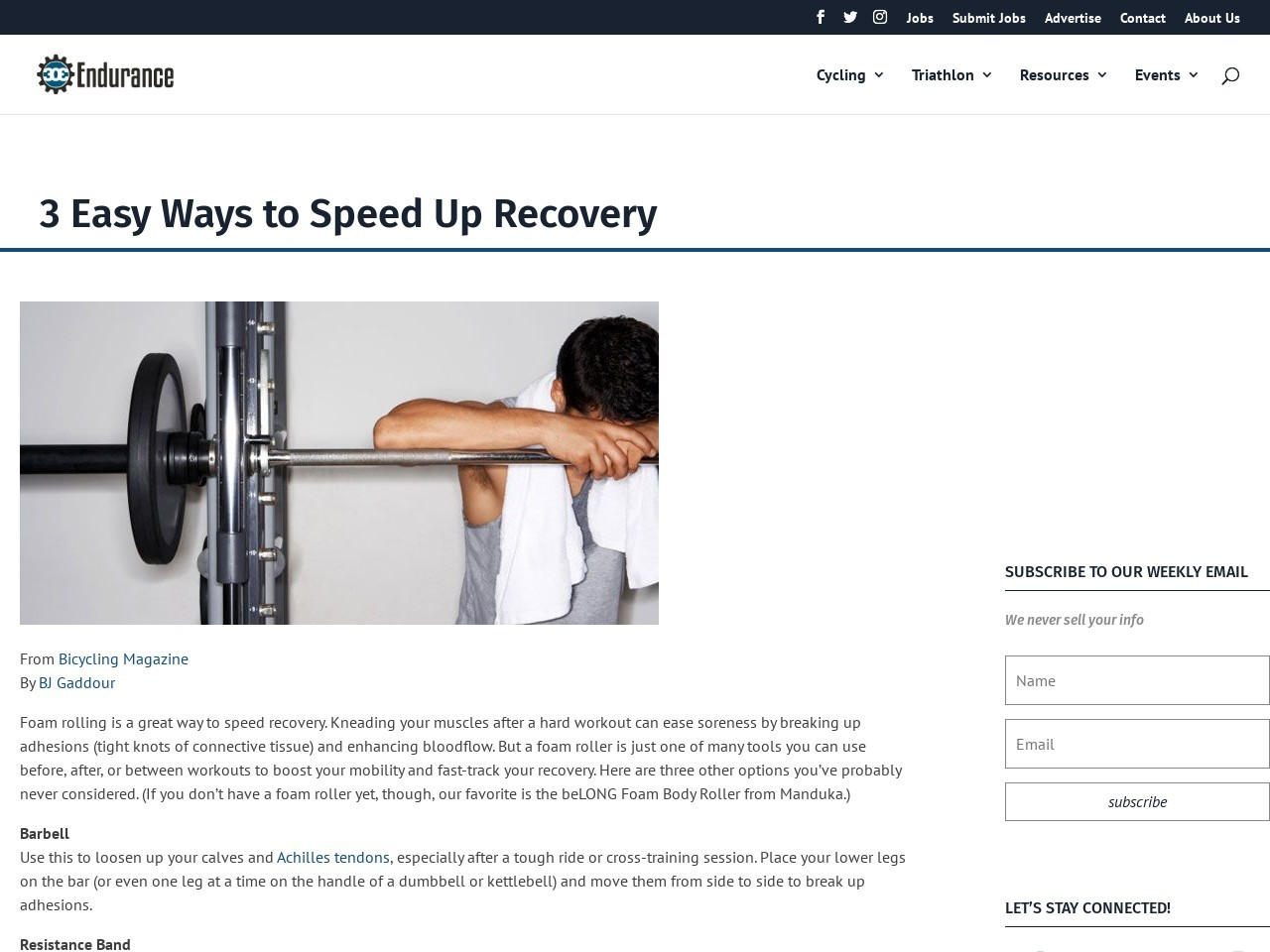 3 Easy Ways to Speed Up Recovery