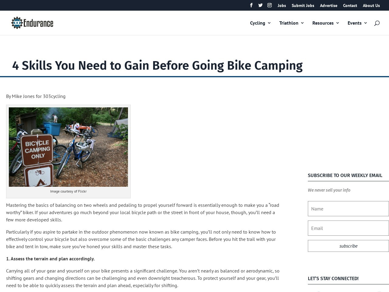 4 Skills You Need to Gain Before Going Bike Camping