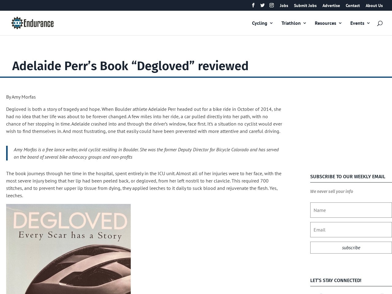"""Adelaide Perr's Book """"Degloved"""" reviewed"""