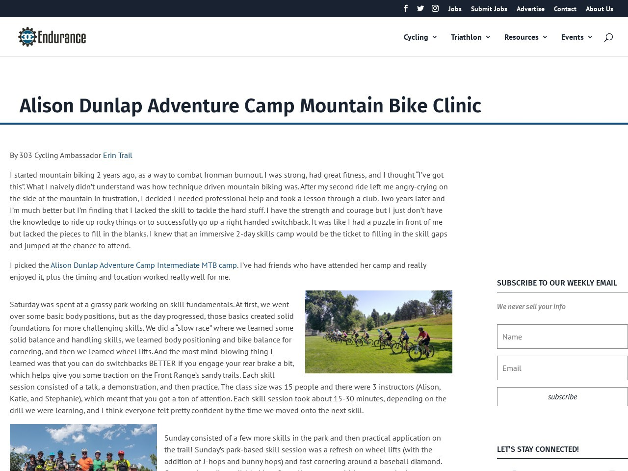 Alison Dunlap Adventure Camp Mountain Bike Clinic