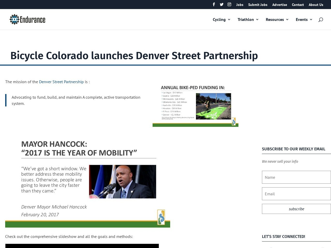 Bicycle Colorado launches Denver Street Partnership